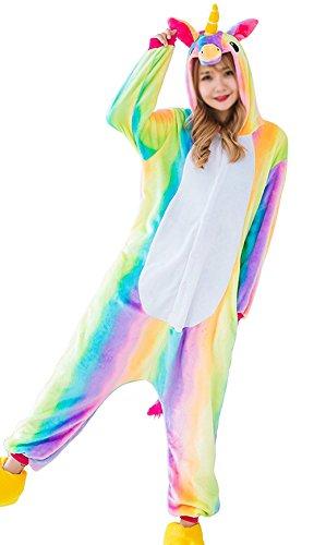 Aidonger-Einhorn-Kostm-Pyjama-Jumpsuit-Unisex-Kinder-Erwachsene-Cosplay-0