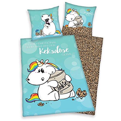 Bettwsche-Pummeleinhorn-glatt-Fotodruck-Keksdose-Cookie-135-x-200-cm-Geschenk-NEU-WOW-All-In-One-Outlet-24-0