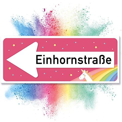 Einhhorn-Schild-Einhornstrae-40-x-15cm-Se-Deko-Wanddeko-Trschild-fr-Mdels-Mdchen-Zimmer-Geschenkidee-und-Geburtstagsgeschenk-Kleines-Lustiges-Geschenk-fr-Sie-beste-Freundin-0