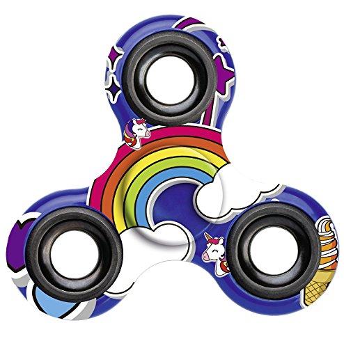 Einhorn-Fidget-Spinner-Unicorn-Hand-Spinner-Finger-Spinner-fr-Erwachsene-und-Kinder-in-blau-0