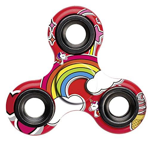 Einhorn-Fidget-Spinner-Unicorn-Hand-Spinner-Finger-Spinner-fr-Erwachsene-und-Kinder-in-rot-0