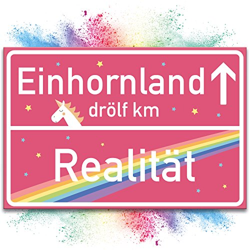 Einhorn-Schild-rosa-Ortsschild-30x20cm-Ortstafel-Realitt--Einhornland-Se-Wand-Deko-Trschild-fr-Mdels-Wohnung-und-Mdchen-Zimmer-Geschenkidee-und-Geburtstags-Geschenk-beste-Freundin-0