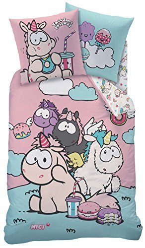 Einhorn-Theodor-and-Friends-Wende-Bettwsche-135x200cm-80x80cm-LinonNici-45292-0-292x500