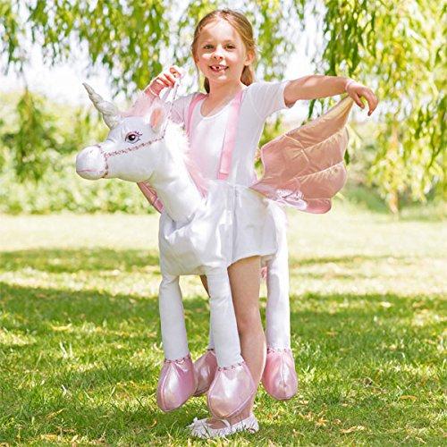Kinder Kostüm Einhorn zum Reiten