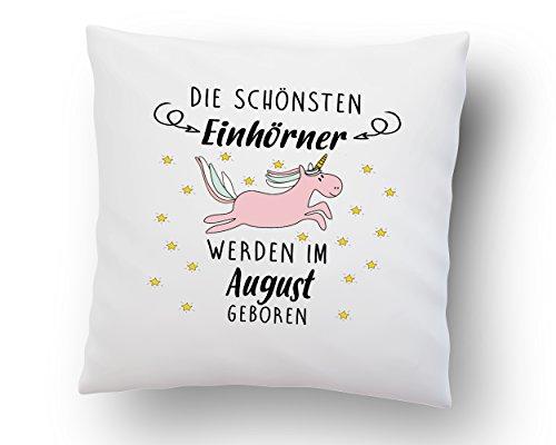 Kissenbezug-Die-schnsten-Einhrner-werden-im-Wunschmonat-geboren-40cm-x-40cm-Deko-Kissen-hochwertige-Qualitt-Baumwolle-wei-Geschenk-Geburstag-Einhorn-0