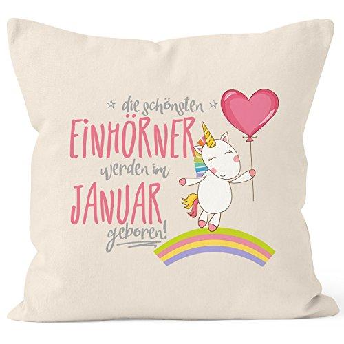 Kissenbezug-die-schnsten-Einhrner-werden-im-Januar-geboren-40x40-Baumwolle-Geschenk-Geburtstag-Unicorn-MoonWorks-0
