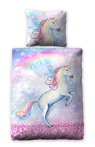 Kuschelbettwäsche Bettwäsche 135x200 Cm Sparkle Unicorn