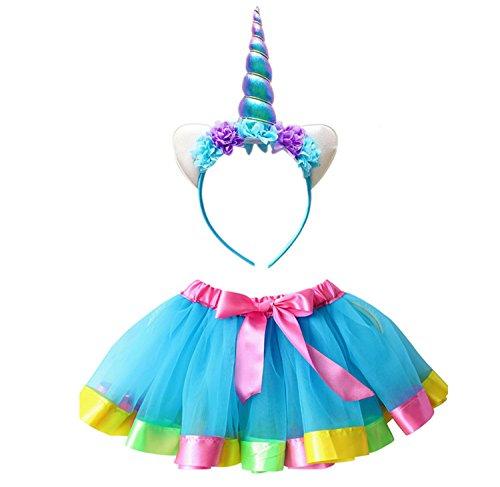 Mdchen-Tutu-Canvalite-Regenbogen-Ballet-Prinzessin-Tllrock-Cosplay-Kostm-fr-Tanz-Party-Karneval-0