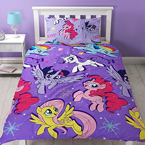 My-Little-Pony-Movie-Wiederholen-Druck-Design-Abenteuer-Bettwsche-Set-mehrfarbig-Single-0