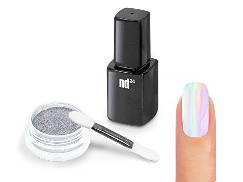 Nailart-STARTER-SET-UNICORN-HOLOGRAMM-Pigment-Puder-ZUBEHR-Holographic-Effekt-Powder-Nail-Glitzer-Glitter-Pulver-HOLO-Metallic-Nail-Dekoration-Nagelkunst-Naildesign-0