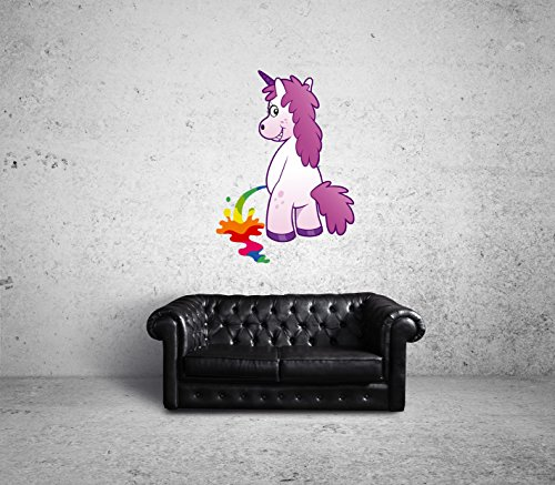 Peeing Unicorn Wallart