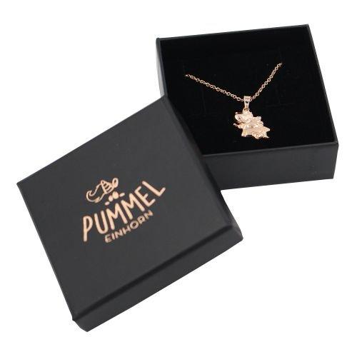Pummeleinhorn-Halskette-Pummelfee-3D-rosgold-inkl-Geschenkschachtel-0