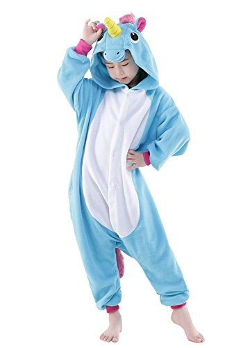 Pyjamas Kinder Einhorn Kostm Jumpsuit Tier Schlafanzug