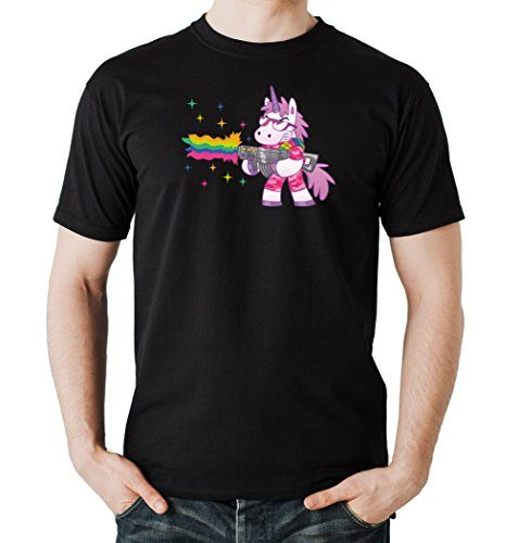 Shooting-Unicorn-T-Shirt-Black-Certified-Freak-0-477x500