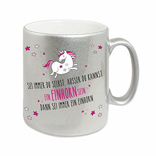 Silberne-Tasse-Sei-immer-du-selbst-auer-du-kannst-ein-Einhorn-dann-sei-immer-ein-Einhorn-Kaffeetasse-Kaffeebecher-Geburtstagsgeschenk-Weihnachtsgeschenk-Einhornliebhaber-fr-sie-ausgefallen-0