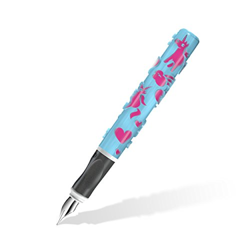 Staedtler-Fller-Einhorn-mit-sprbar-erhabenen-Motiven-aus-dem-3D-Drucker-mit-universeller-M-Feder-zauberhafte-Einhorn-Magie-in-frischem-Bergblau-und-knalligem-Pink-9D401FMWU1-0