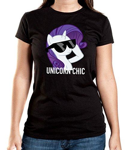 Unicorn-Chic-T-Shirt-Girls-Black-Certified-Freak-0