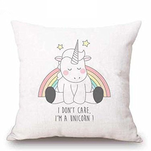 nighteyes66-Fashion-Cute-Cartoon-Einhorn-Leinen-berwurf-Kissen-Fall-Home-Sofa-Dekoration-Kissenbezug-0